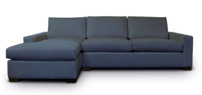 McQueen Fabric Contemporary Square Track Arm Sectional