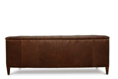 Neil Mid-Century Chesterfield Sofa In Mudd Run Leather