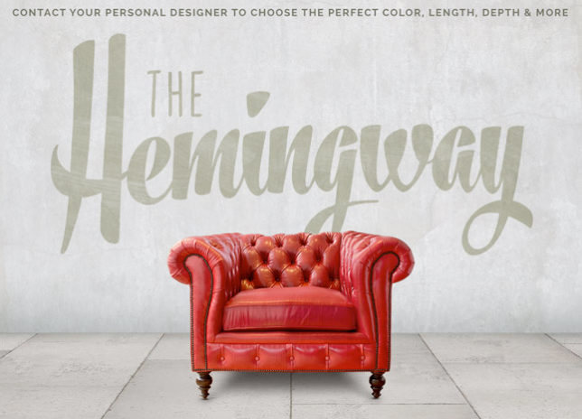 Hemingway American Made Leather Chesterfield Chair