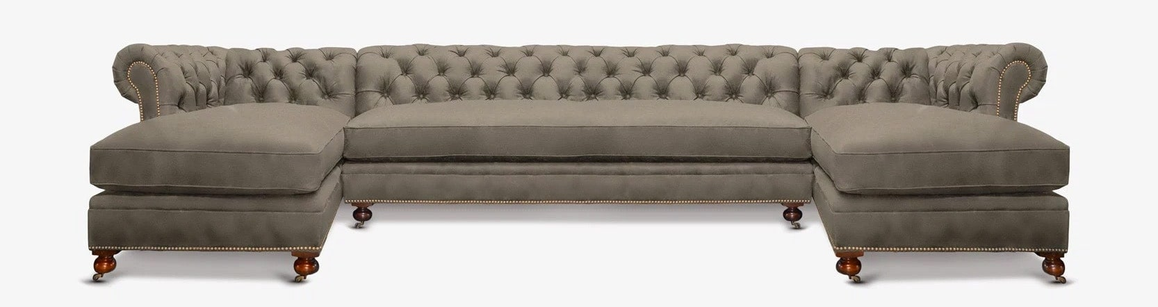 ... Fitzgerald Vintage Grey Chaise Sectional