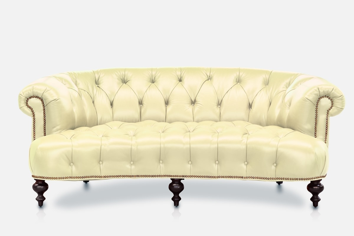 The Truman Rounded On Tufted Leather Chesterfield Sofa